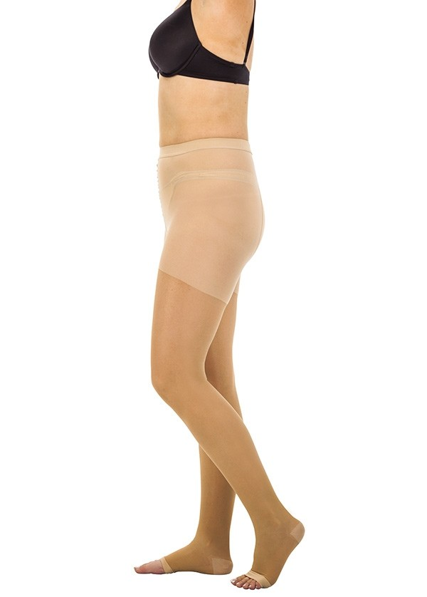 Waist high compression stockings for men and women